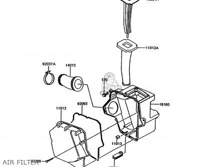 Kawasaki 1991 A5: Kmx200 parts list partsmanual partsfiche