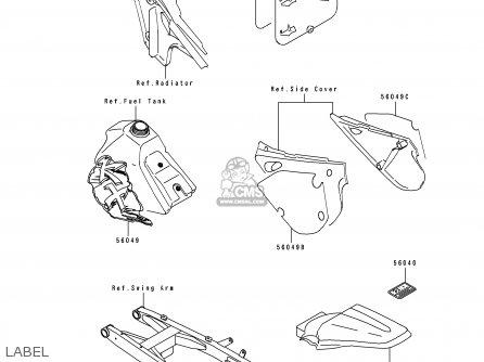 Kawasaki 1991 B1: Kx100 parts list partsmanual partsfiche