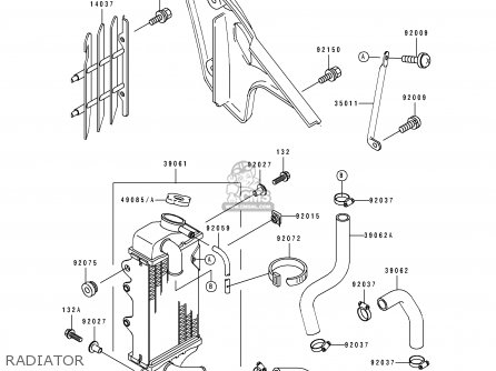 Kawasaki 1991 B1: Kx100 parts list partsmanual partsfiche
