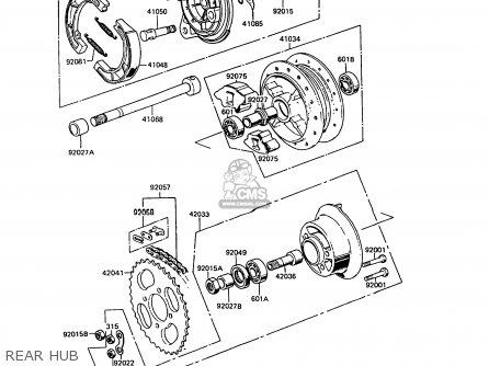 Kawasaki 1991 B10: Ke100 parts list partsmanual partsfiche