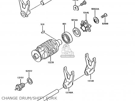 Kawasaki 1991 B8: Ar125 parts list partsmanual partsfiche
