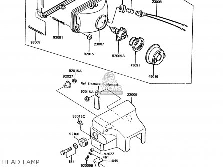 Kawasaki 1991 B8: Ar125 parts list partsmanual partsfiche