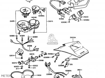 Kawasaki 1991 C4: Zx400 parts list partsmanual partsfiche
