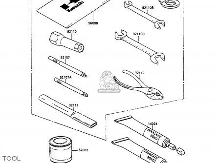 Kawasaki 1991 C4: Zx400 parts list partsmanual partsfiche
