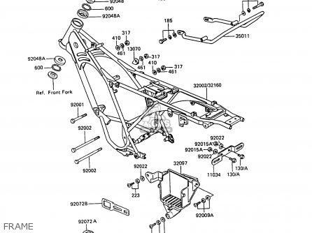 Kawasaki 1991 C9: Ar50 parts list partsmanual partsfiche