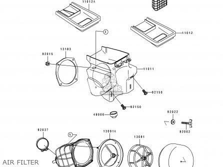 Kawasaki 1991 E3: Kdx200 parts list partsmanual partsfiche
