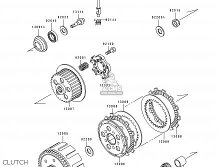 Kawasaki 1991 H2: Kx125 parts list partsmanual partsfiche