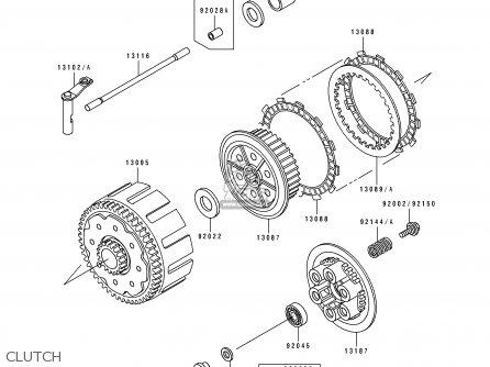 Kawasaki 1991 H2: Kx250 parts list partsmanual partsfiche