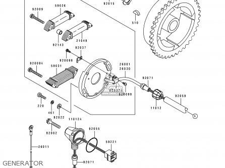 Kawasaki 1992 A16: Js440 parts list partsmanual partsfiche