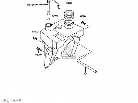 Kawasaki 1992 A6: Kmx125 parts list partsmanual partsfiche