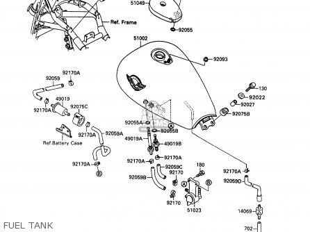 Kawasaki 1992 B6: Vn1500 parts list partsmanual partsfiche