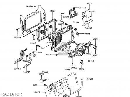 Kawasaki 1992 B6: Zg1200 (north America) parts list