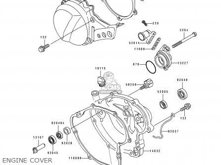 Kawasaki 1992 B8: Kx60 parts list partsmanual partsfiche