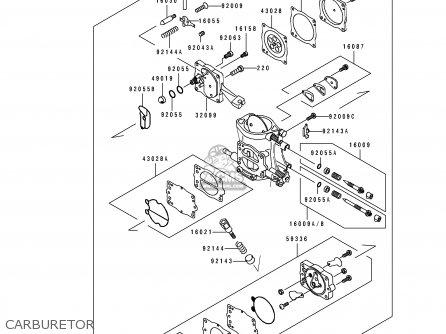 Kawasaki 1992 C2: Js550 parts list partsmanual partsfiche