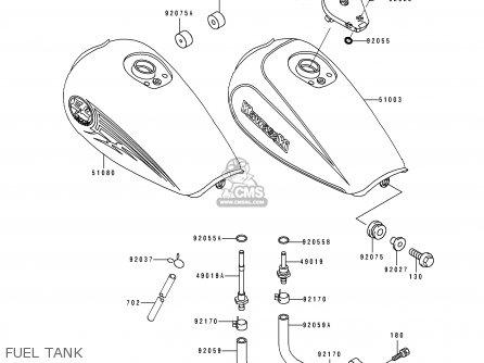 Kawasaki 1992 D3: El250 parts list partsmanual partsfiche