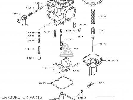 Kawasaki 1992 H3: Ex250 parts list partsmanual partsfiche