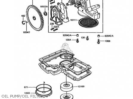 Kawasaki 1992 Kz1000-p11 Police 1000 parts list