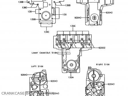 Kawasaki 1992 P7: Z750 parts list partsmanual partsfiche