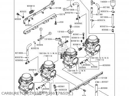 Kawasaki 1993 A2: Zr1100 parts list partsmanual partsfiche