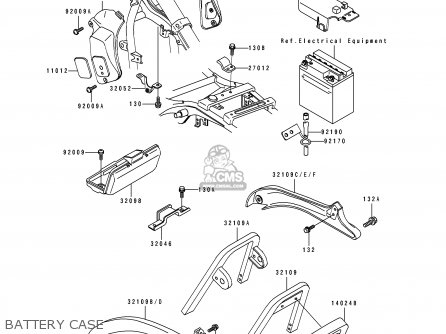 Kawasaki 1993 A4: En500 parts list partsmanual partsfiche