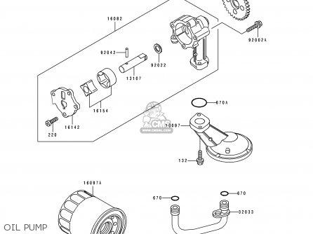 Kawasaki 1993 A4: En500 parts list partsmanual partsfiche