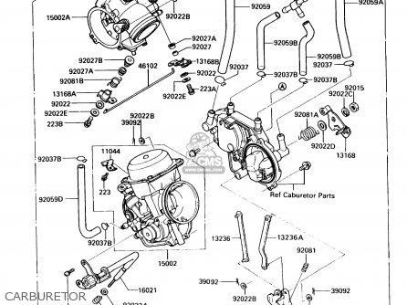 Kawasaki 1993 A9: Vn750 (north America) parts list