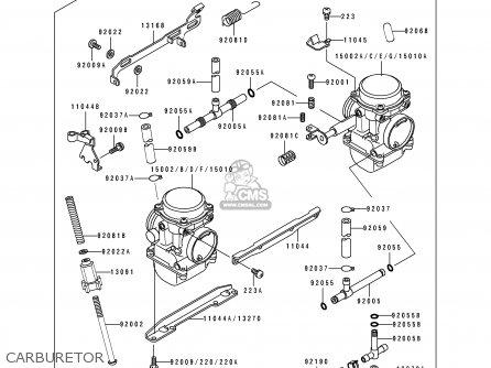 Kawasaki 1993 B6: Ex500 parts list partsmanual partsfiche