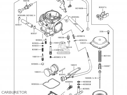 Kawasaki 1993 E1: Klx250 parts list partsmanual partsfiche