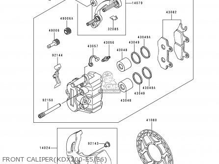 Kawasaki 1993 E5: Kdx200 parts list partsmanual partsfiche