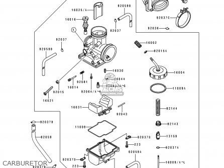 Kawasaki 1993 J2: Kx125 parts list partsmanual partsfiche