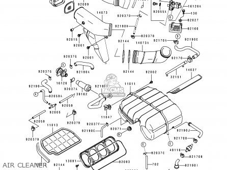 Kawasaki 1993 L1: Zx750 parts list partsmanual partsfiche