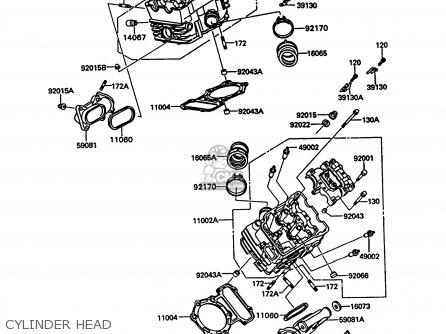 Kawasaki 1994 A10: Vn750 parts list partsmanual partsfiche