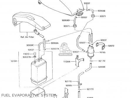 Kawasaki 1994 A10: Vn750 (north America) parts list