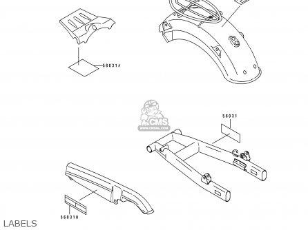 Kawasaki 1994 A2: Bj250 parts list partsmanual partsfiche