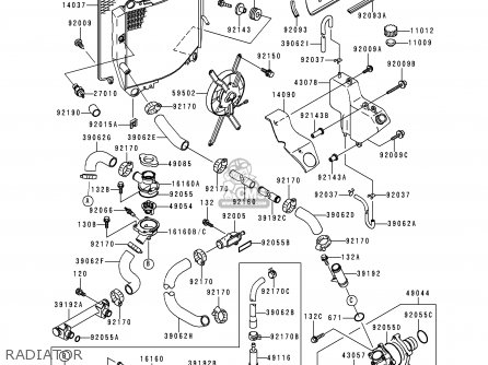 Kawasaki 1994 B1: Zx900 parts list partsmanual partsfiche
