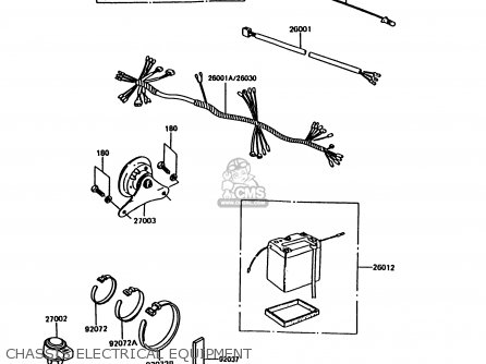 Kawasaki 1994 B13: Ke100 (north America) parts list