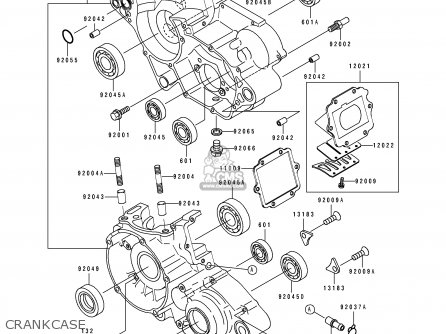 Kawasaki 1994 B4: Kx100 parts list partsmanual partsfiche