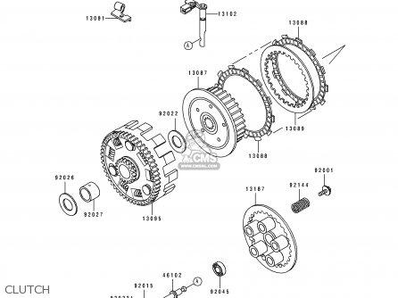 Kawasaki 1994 C2: Klx650 parts list partsmanual partsfiche