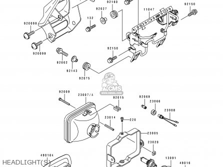 Kawasaki 1994 C2: Klx650 parts list partsmanual partsfiche