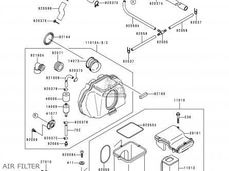 Kawasaki 1994 C4: Zr750 parts list partsmanual partsfiche