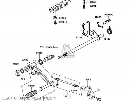 Kawasaki 1994 C5: Zx400 parts list partsmanual partsfiche