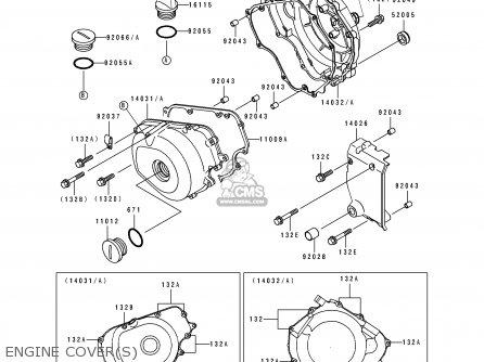 Kawasaki 1994 D5: El250 parts list partsmanual partsfiche