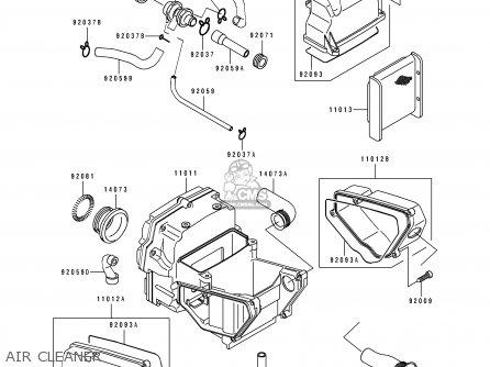 Kawasaki 1994 F1: Ex500 parts list partsmanual partsfiche
