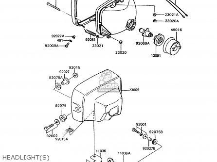 Kawasaki 1994 P9: Z750 parts list partsmanual partsfiche