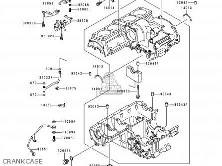 Kawasaki 1995 A4: Zr1100 parts list partsmanual partsfiche