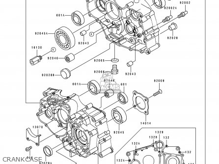 Kawasaki 1995 A8: Klf220 parts list partsmanual partsfiche