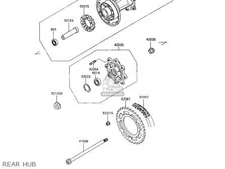 Kawasaki 1995 A9: Kl650 (north America) parts list