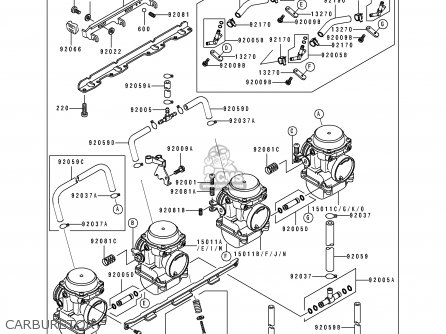 Kawasaki 1995 B1: Zl600 parts list partsmanual partsfiche