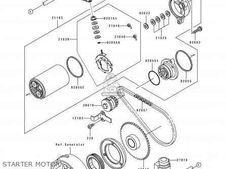 Kawasaki 1995 C7: Klf300 parts list partsmanual partsfiche