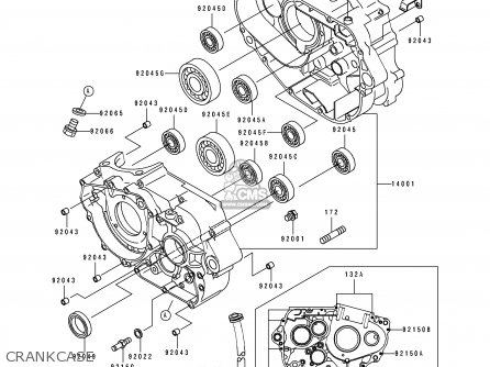Kawasaki 1995 G2: Klx250 parts list partsmanual partsfiche